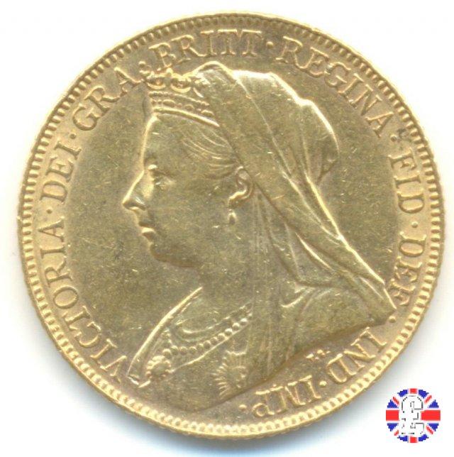 1 sovereign - tipo anziana velata 1899 (London)