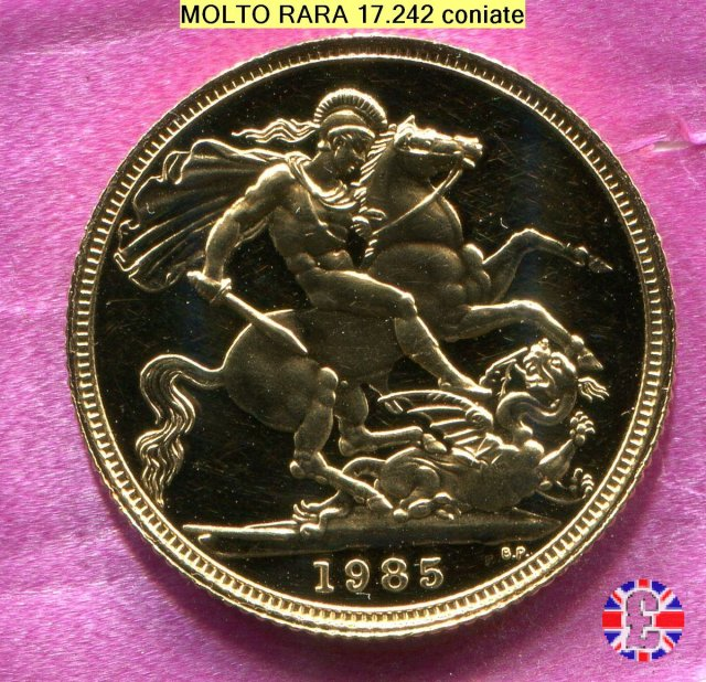 1 sovereign - tipo coronata anziana 1985 (Royal Mint, Llantrisant)