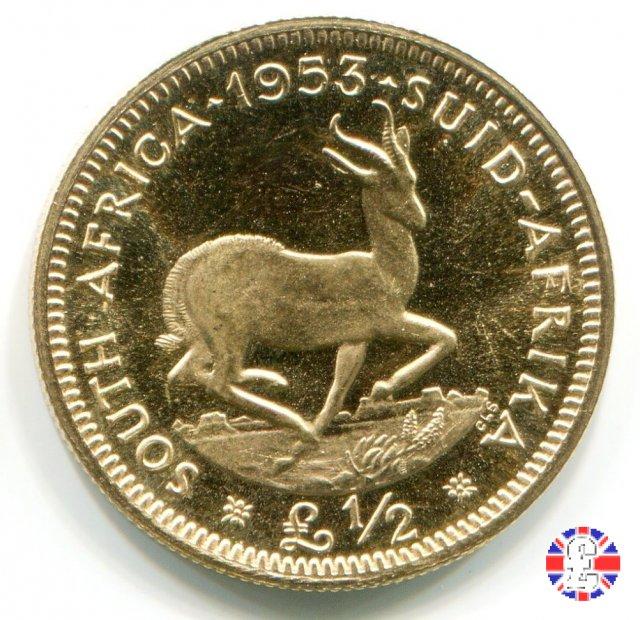 1/2 pound - Elizabeth II 1953 (Pretoria)
