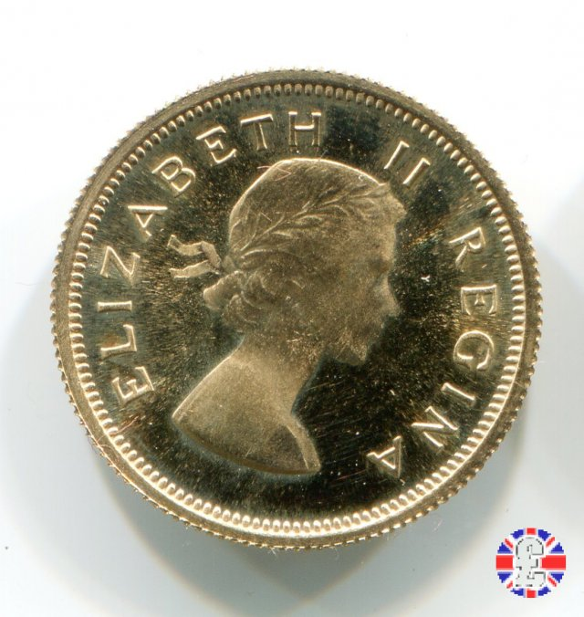 1/2 pound - Elizabeth II 1956 (Pretoria)