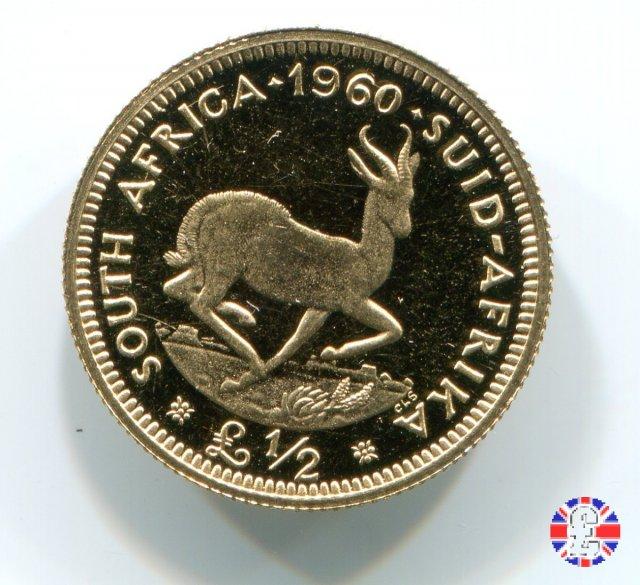 1/2 pound - Elizabeth II 1960 (Pretoria)
