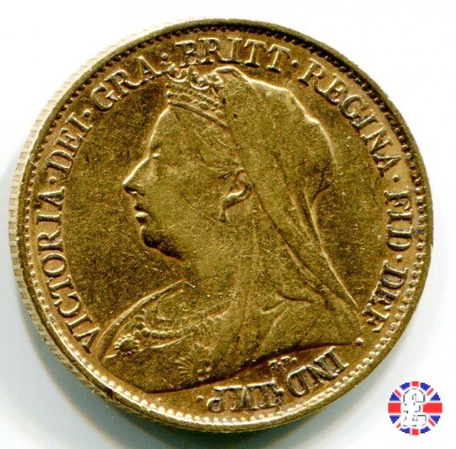 1/2 sovereign - tipo anziana velata 1894 (London)