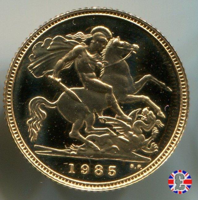 1/2 sovereign - tipo coronata anziana 1985 (Royal Mint, Llantrisant)