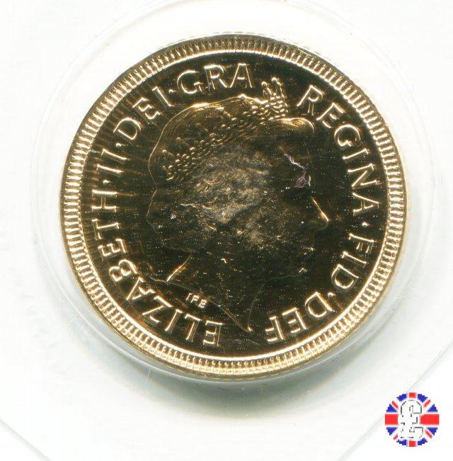 1/2 sovereign -tipo diadema anz. e stemma coronato 2002 (Royal Mint, Llantrisant)