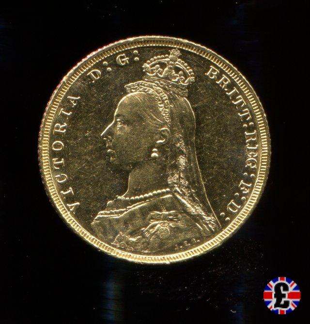 1 sovereign - tipo giubileo 1888 (Melbourne)