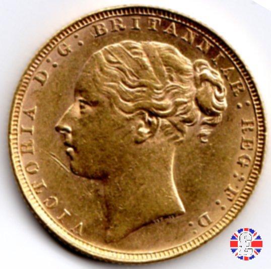 1 sovereign - tipo giovane e san giorgio 1880 (London)