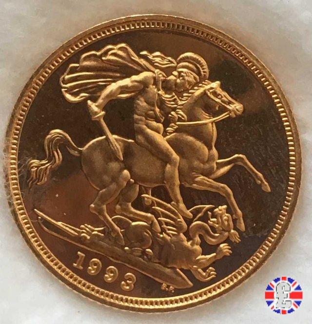 1 sovereign - tipo coronata anziana 1993 (Royal Mint, Llantrisant)