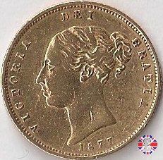1/2 sovereign - tipo giovane 1877 (London)