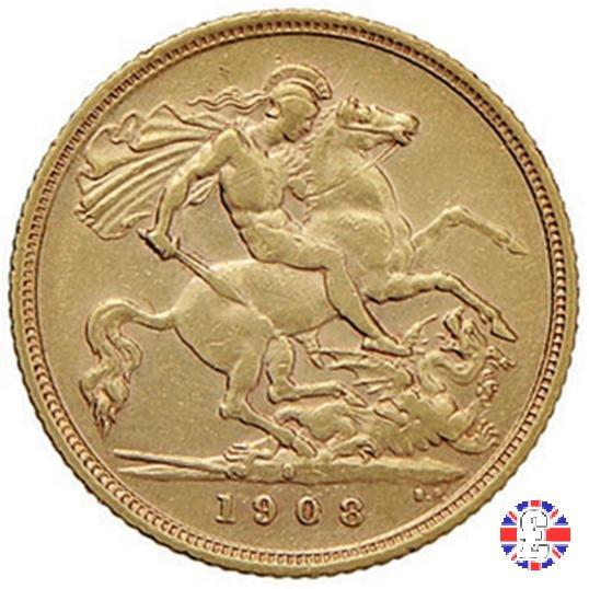1/2 sovereign 1908 (Sydney)
