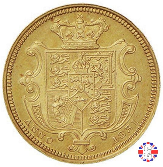 1/2 sovereign - diametro 19 1831 (London)