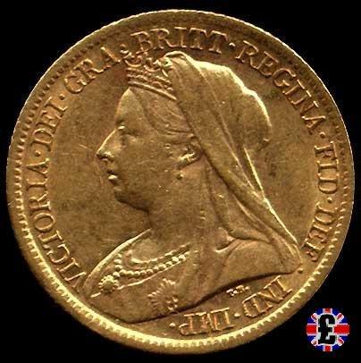 1/2 sovereign - tipo anziana velata 1900 (London)