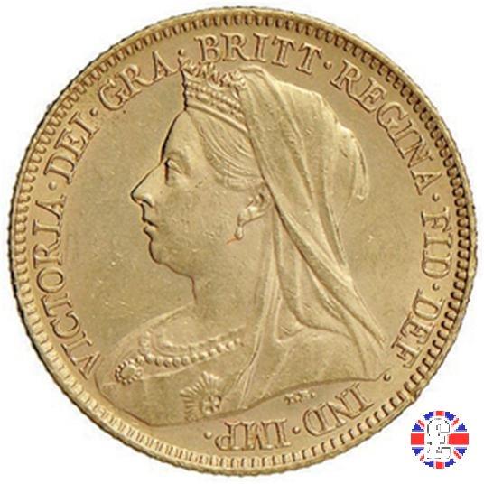1/2 sovereign - tipo anziana velata 1901 (London)