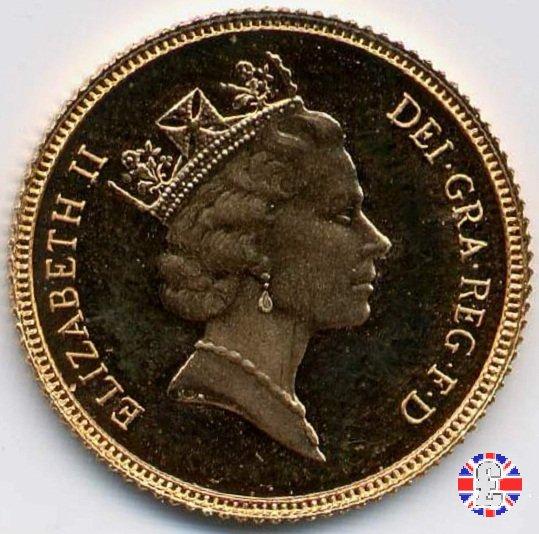 1/2 sovereign - tipo coronata anziana 1986 (Royal Mint, Llantrisant)