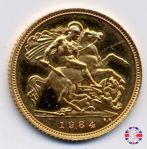 1/2 sovereign - tipo coronata giovane 1984 (Royal Mint, Llantrisant)