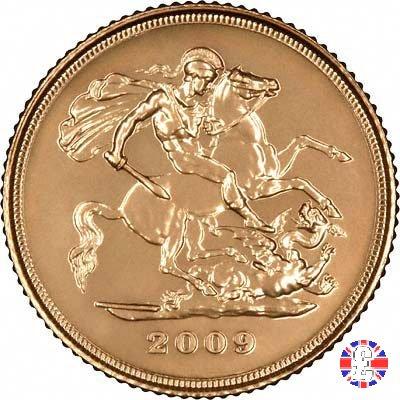 1/2 sovereign - tipo diadema anziana 2009 (Royal Mint, Llantrisant)