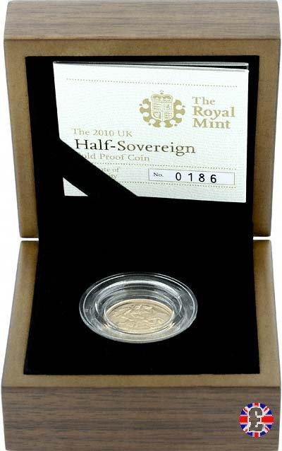 1/2 sovereign - tipo diadema anziana 2010 (Royal Mint, Llantrisant)