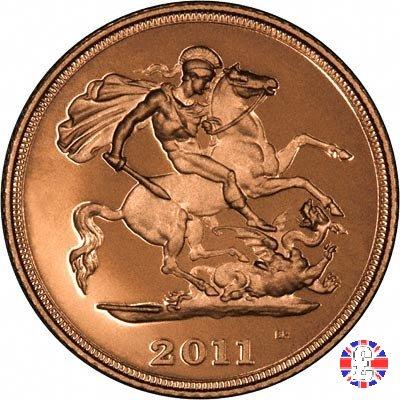 1/2 sovereign - tipo diadema anziana 2011 (Royal Mint, Llantrisant)