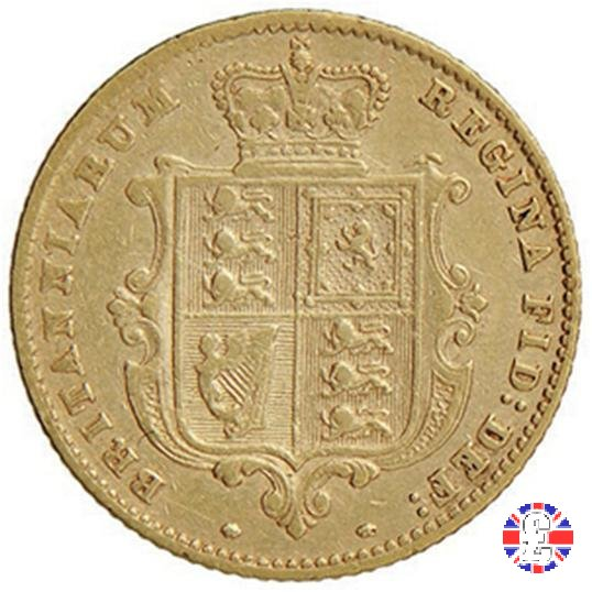 1/2 sovereign - tipo giovane 1860 (London)
