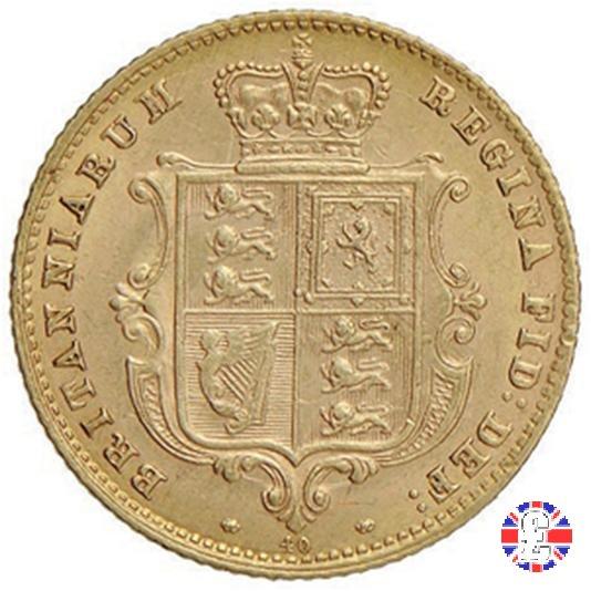 1/2 sovereign - tipo giovane 1870 (London)
