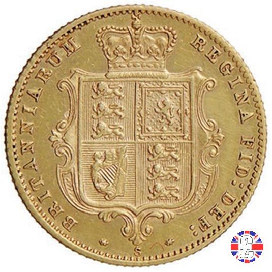 1/2 sovereign - tipo giovane 1872 (Sydney)