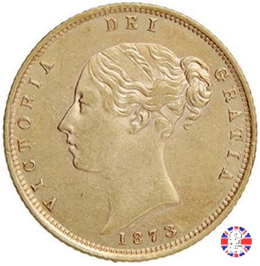 1/2 sovereign - tipo giovane 1873 (London)