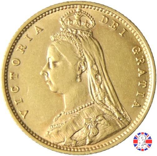 1/2 sovereign - tipo giubileo 1892 (London)