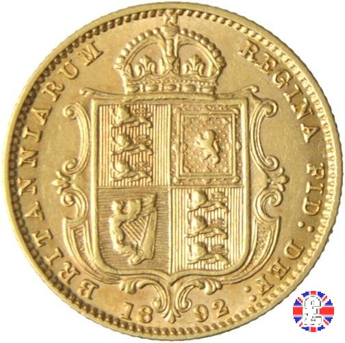 1/2 sovereign - tipo giubileo 1892 (London)