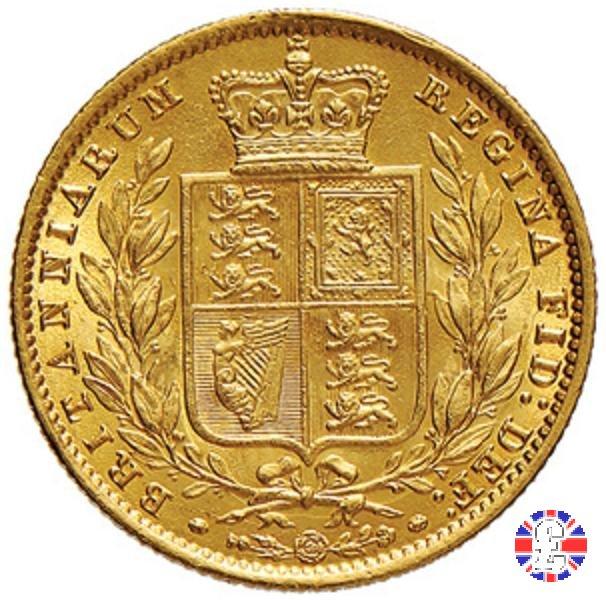1 sovereign - secondo tipo giovane e stemma 1861 (London)