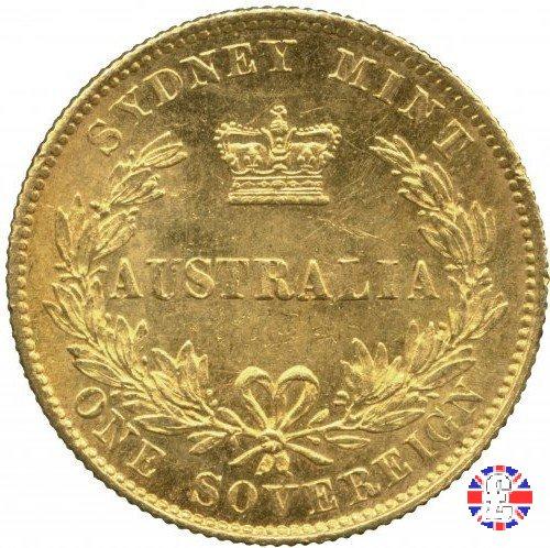 1 sovereign - secondo tipo giovane e sydney mint 1868 (Sydney)