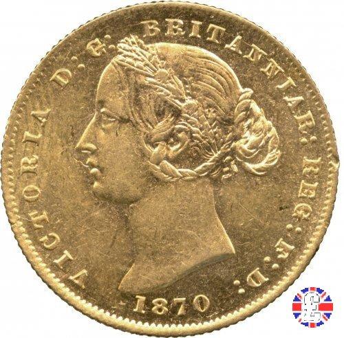 1 sovereign - secondo tipo giovane e sydney mint 1870 (Sydney)