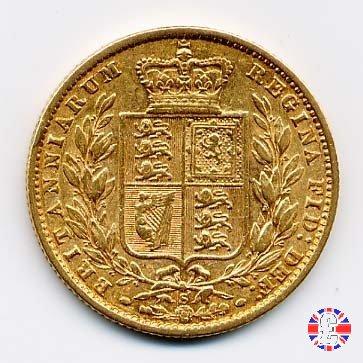 1 sovereign - secondo tipo giovane e stemma 1877 (Sydney)